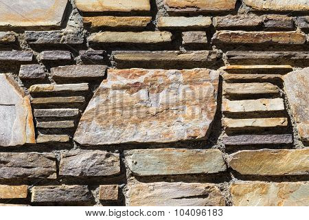 Brick Wall With Copy Space On A Large Brick