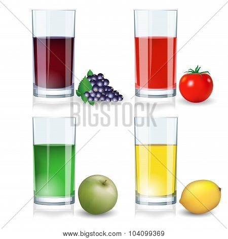Set Of Juices