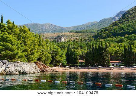 The Famous Beach Of The Queen (kraljicina Plaza), Milocer, Montenegro
