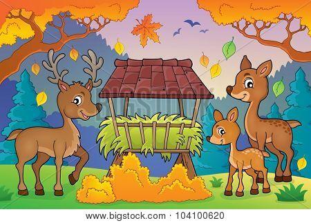 Deer theme image 3 - eps10 vector illustration.