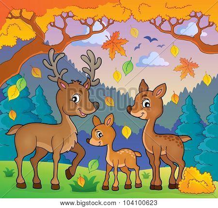 Deer theme image 2 - eps10 vector illustration.