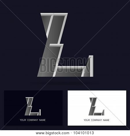 Letter L logo icon design template elements - Illustration.