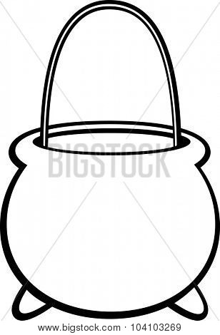 witch cauldron shaped pail