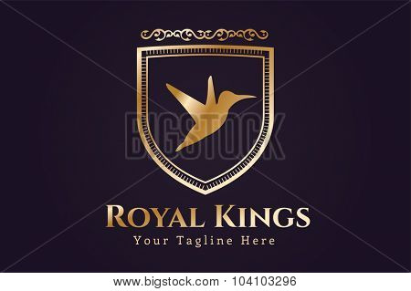Royal logo vector logo. Bird logo. Kings symbol. Royal crests monogram. Kings Top hotel. Lion logo. Royal hotel, Premium brand boutique, Fashion logo, Lawyer logo. Vintage logo, modern style