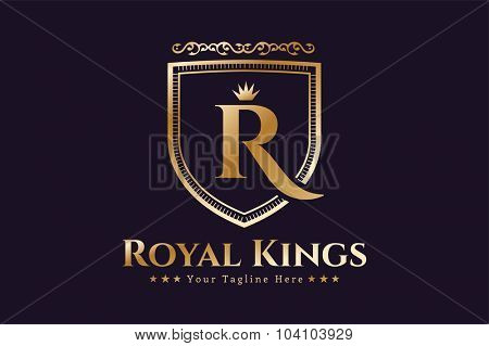 Royal logo vector template. Hotel logo. Kings symbol. Royal crests monogram. Kings Top hotel. Letter R logo. Royal hotel, Premium R brand boutique, Fashion R logo, Lawyer logo. Crown. vintage modern