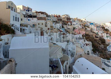 Town of Oia, Santorini, Tira Island, Cyclades