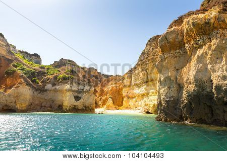 Beautiful ocean with rocku cliffs