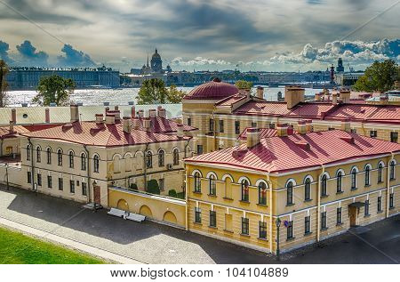 Mint  Peter And Paul Fortress Top View  Neva River