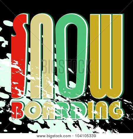 Vector Snow Boarding Poster