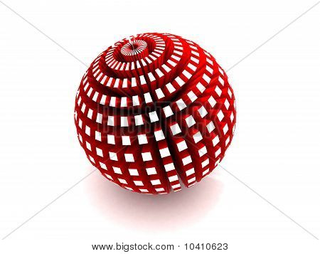 3D red sphere