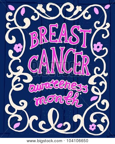 Breast Cancer Concept Hand Drawn Typography Poster