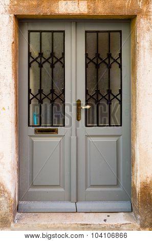 Double-wing Front Door Gray