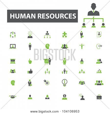 human resources, management, organization icons