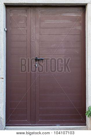 Double-wing Front Door Brown