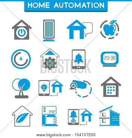 smart home and home automation icons