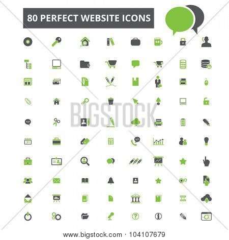 80 perfect website icons