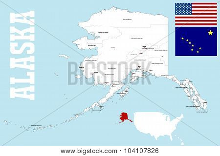 Alaska boroughs map