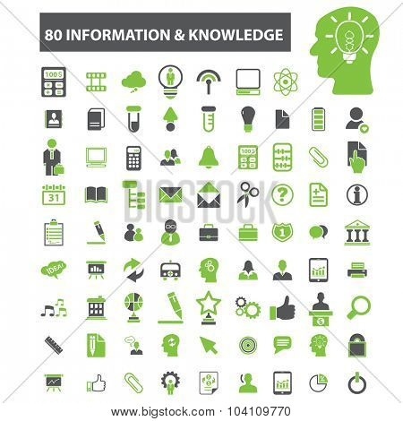 80 information knowledge, technology icons