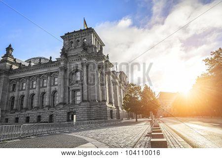 Reichstag building in Berlin, Germany.