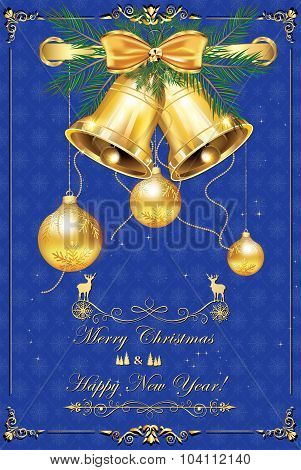 Happy New Year 2016 card for print