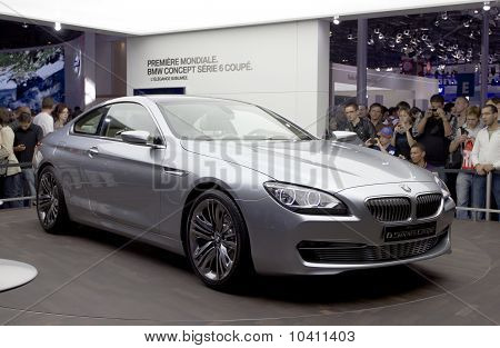 PARIS, FRANCE - OCT 10: BMW serie 6 on display at the Paris Motor Show at Porte de Versailles