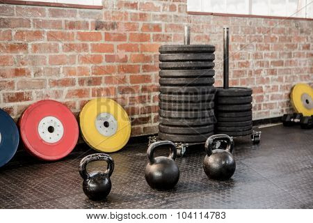 Exercise equipment arranged at the gym