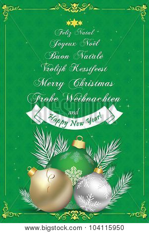 Corporate Christmas and New Year card
