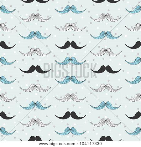 Retro style mustache pattern