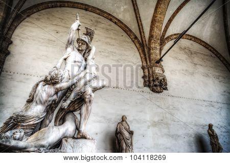 Ratto Di Polissena Statue In Florence