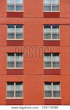 Windows of a large building