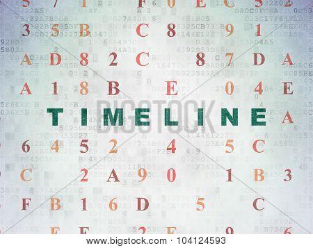 Timeline concept: Timeline on Digital Paper background