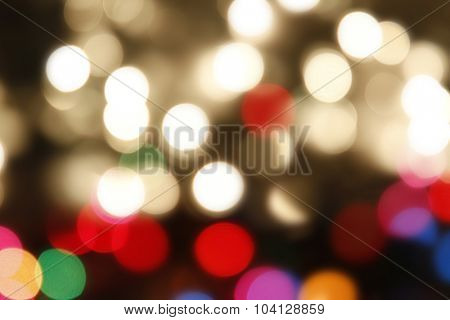 Colorful blurred circles abstract background