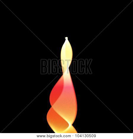 Abstract vector flame