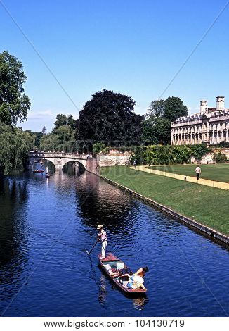 Punt on the River Cam, Cambridge.