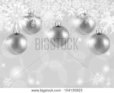 Silver balls Christmas card