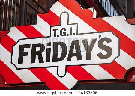 NEW YORK CITY, USA - CIRCA SEPTEMBER 2014: TGI Fridays restaurant in New York City