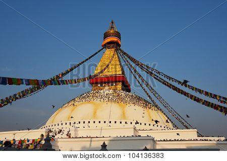 Boudhanath the famous temple in Kathmandu Nepal
