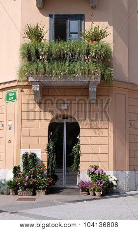 LJUBLJANA, SLOVENIA - JUNE 30: Flower Shop in Ljubljana, Slovenia on June 30, 2015