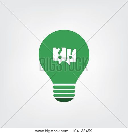 Green Eco Energy Concept Icon - Talk About the Sustainability