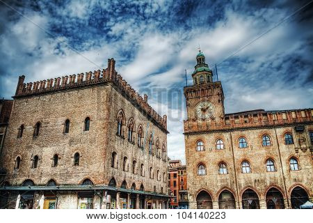 Palazzo Dei Notai And Palazzo D'accursio In Bologna,