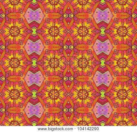 Seamless pattern yellow brown purple