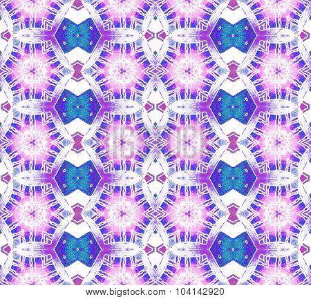 Seamless pattern purple white turquoise