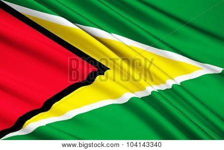 Flag Of Guyana, Georgetown