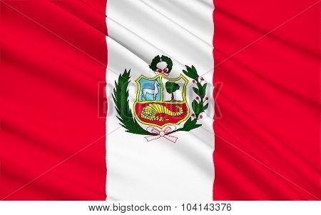 Flag Of Republic Of Peru, Lima