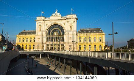 BUDAPEST, HUNGARY - CIRCA SEPTEMBER 2015: Budapest Keleti railway station (Hungarian: Budapest Keleti palyaudvar) opened August 16, 1884.