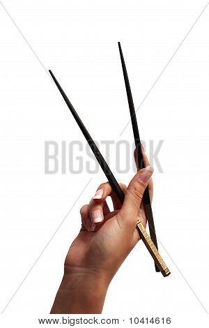 Female Holding Chopstick