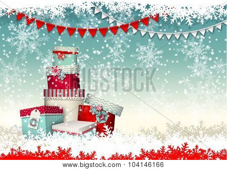 christmas greeting card, illustration