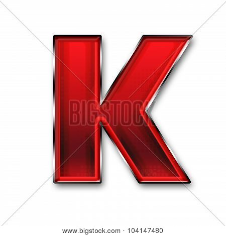 Metal Letter K In Red