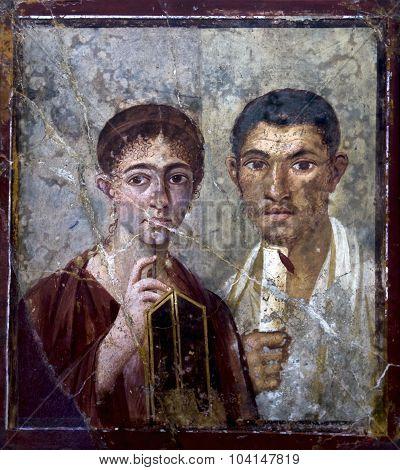 Ancient Roman Fresco From Pompeii