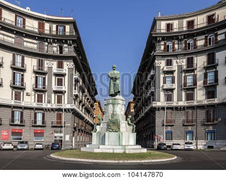 Statue Of Umberto I In Naples, Italy